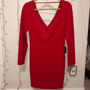 Express red party dress - small